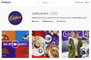 Cadbury's Instagram (Instagram.com, 2016)