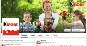 Kinder's Facebook (Facebook.com, 2016)