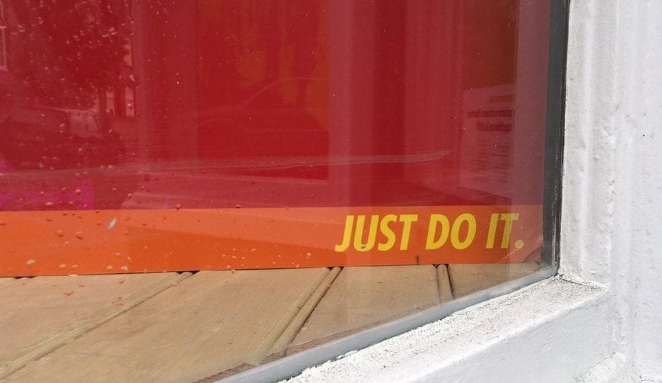 Just do it, advert strap line