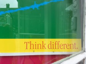 Think Different, advert strap line
