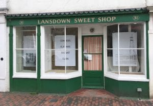 sweetshop from showing three posters