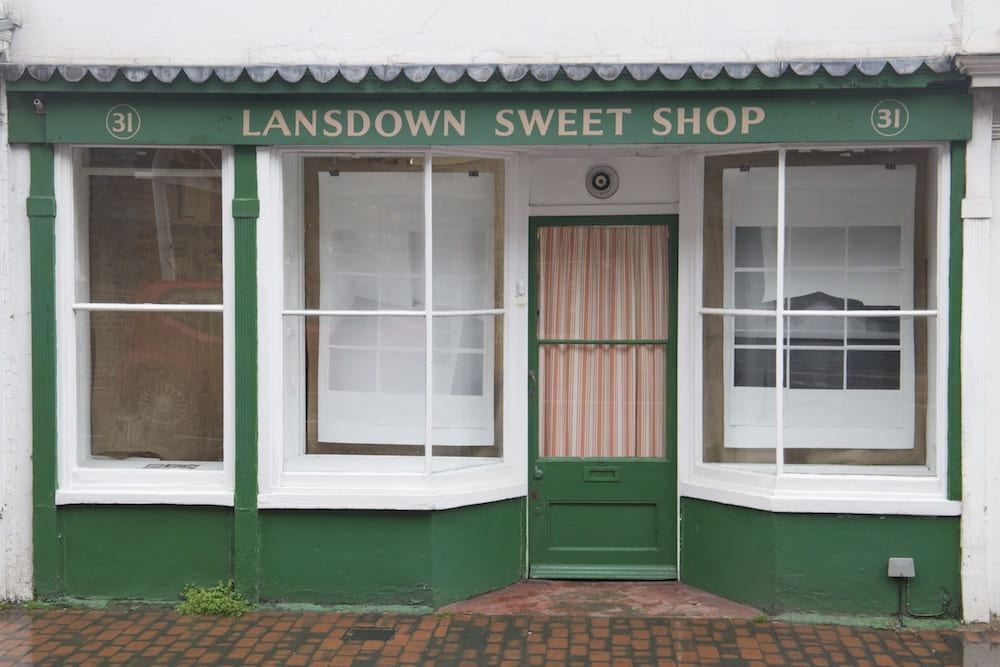 Sweetshop window installation