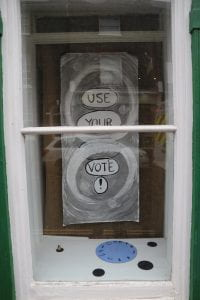 'use your vote' poster