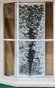 right hand window, large drawing