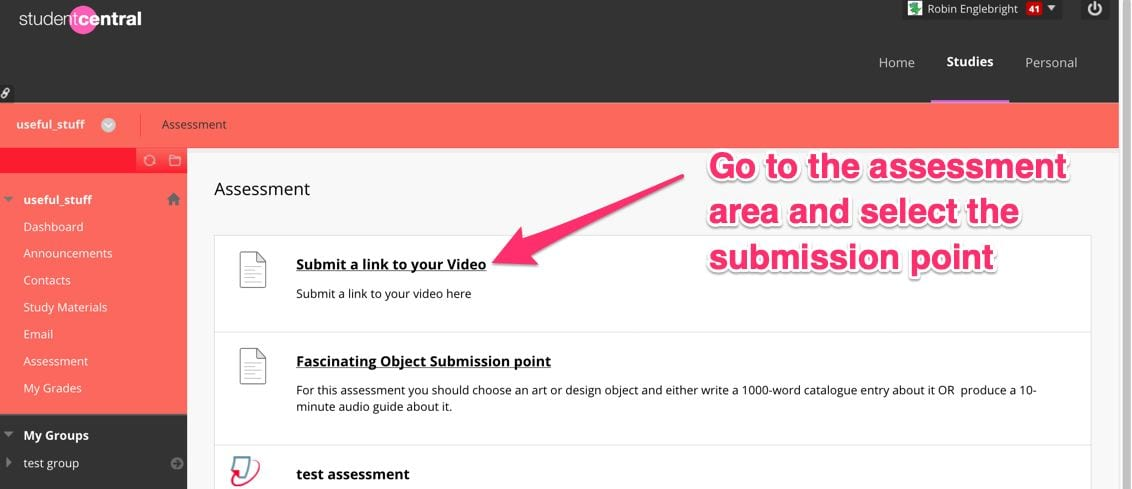 submit a mediastream video to an assignment | how to