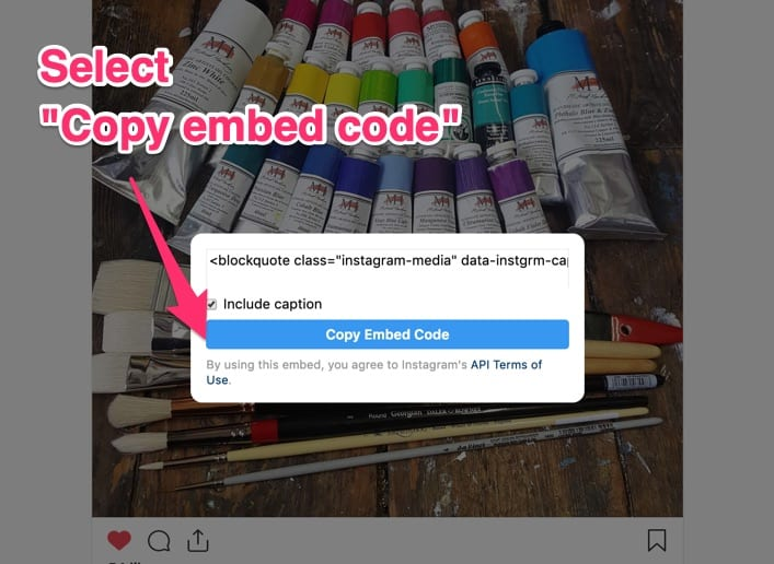 embed code