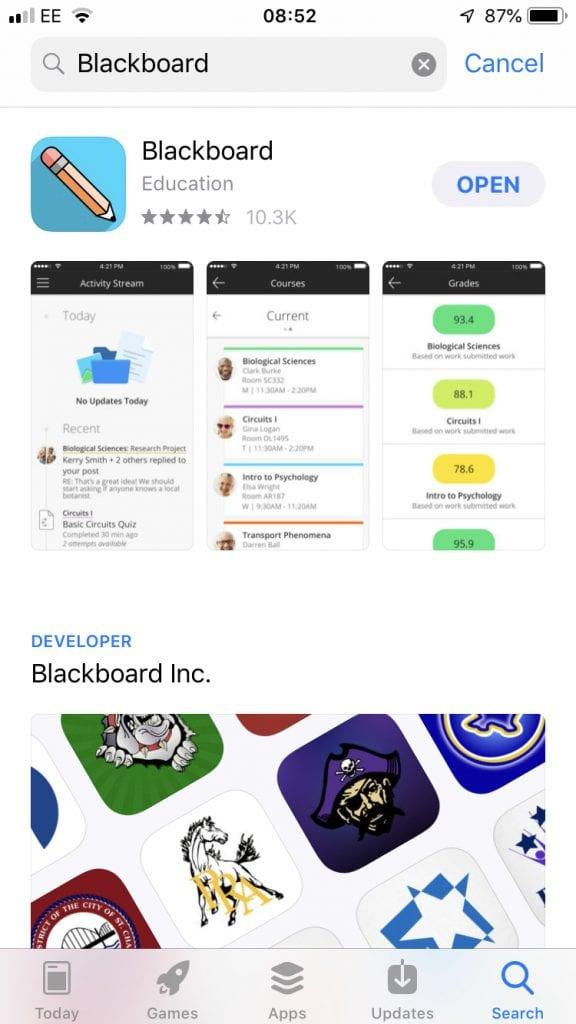 blackboard app