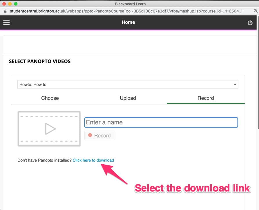 select panopto installer