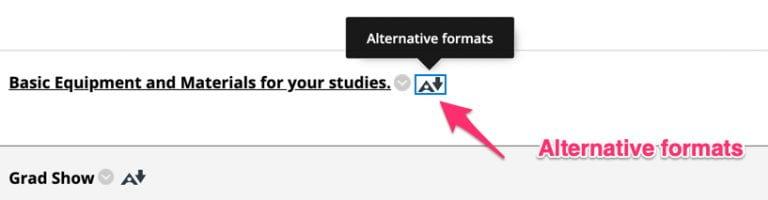 alternative formats icon