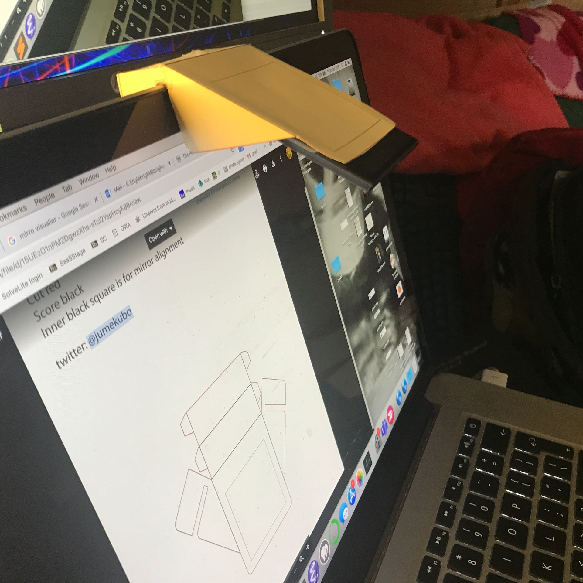 use your laptop webcam as a visualiser with a mirror some cardboard and  sellotape | how to