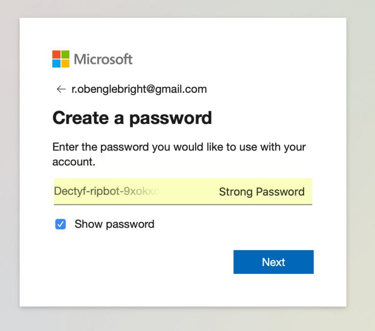 add a password