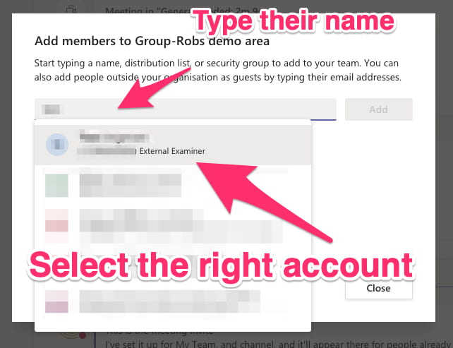 select right account