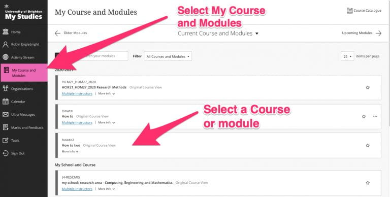 Select my Course