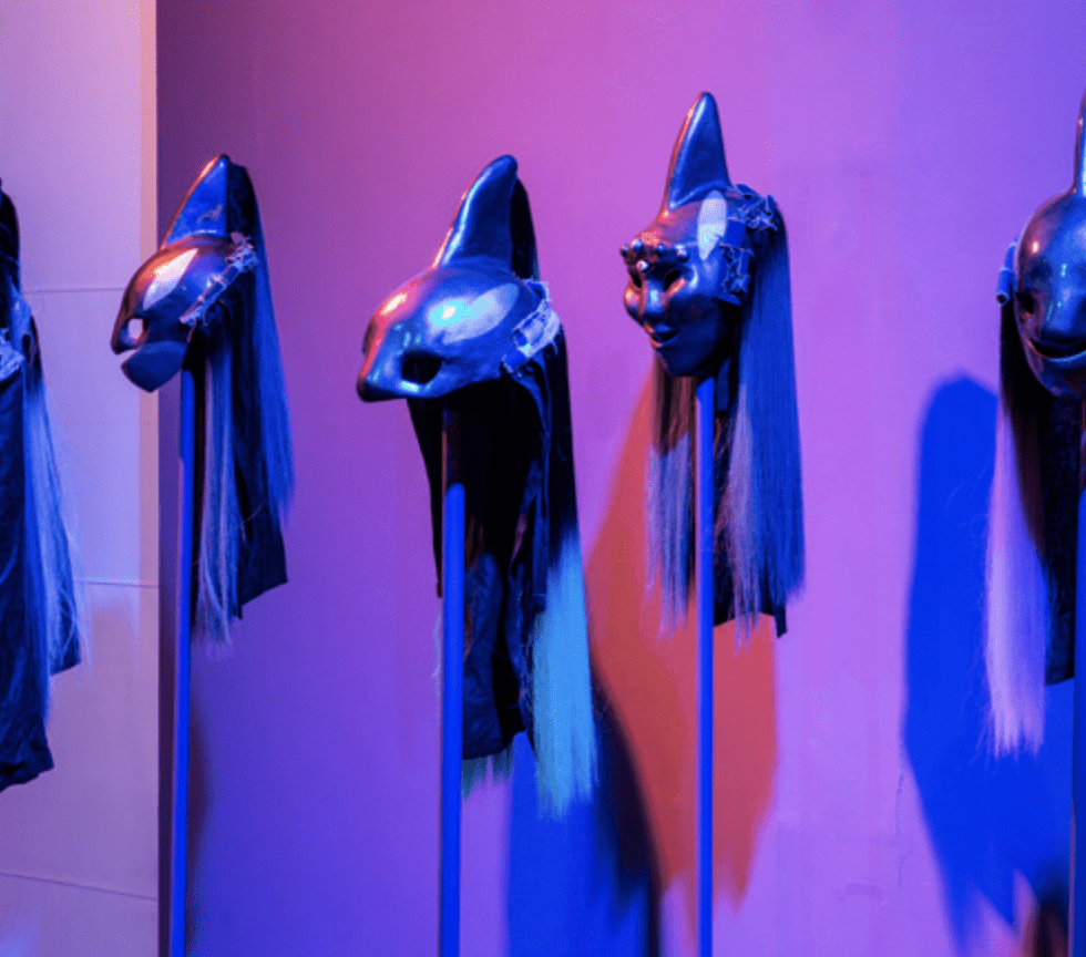 masks in gallery