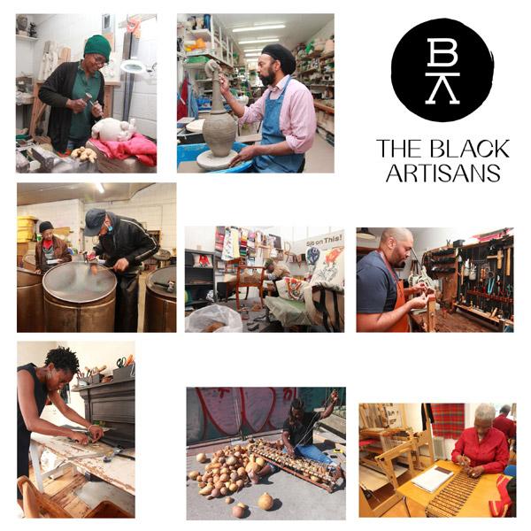 9 images depicting black artisans in their studios