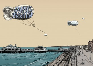 graphic brighton poster