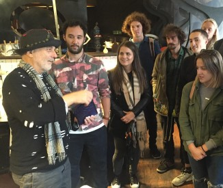 Students with Ron Arad