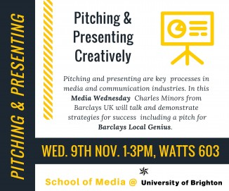 Pitching and presenting flyer