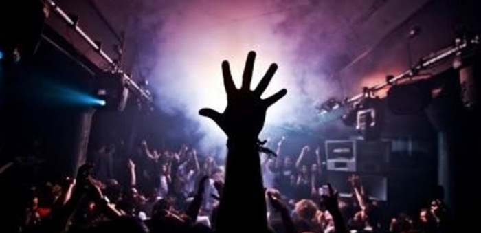 Hand at music event