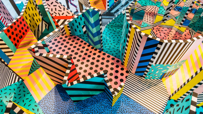 Camille Walala's maze is a riotous temple of colour and pattern