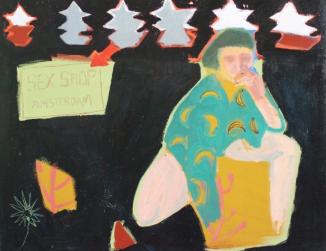 'Obsesión Plátano' Oil on canvas 100cm x 81cm