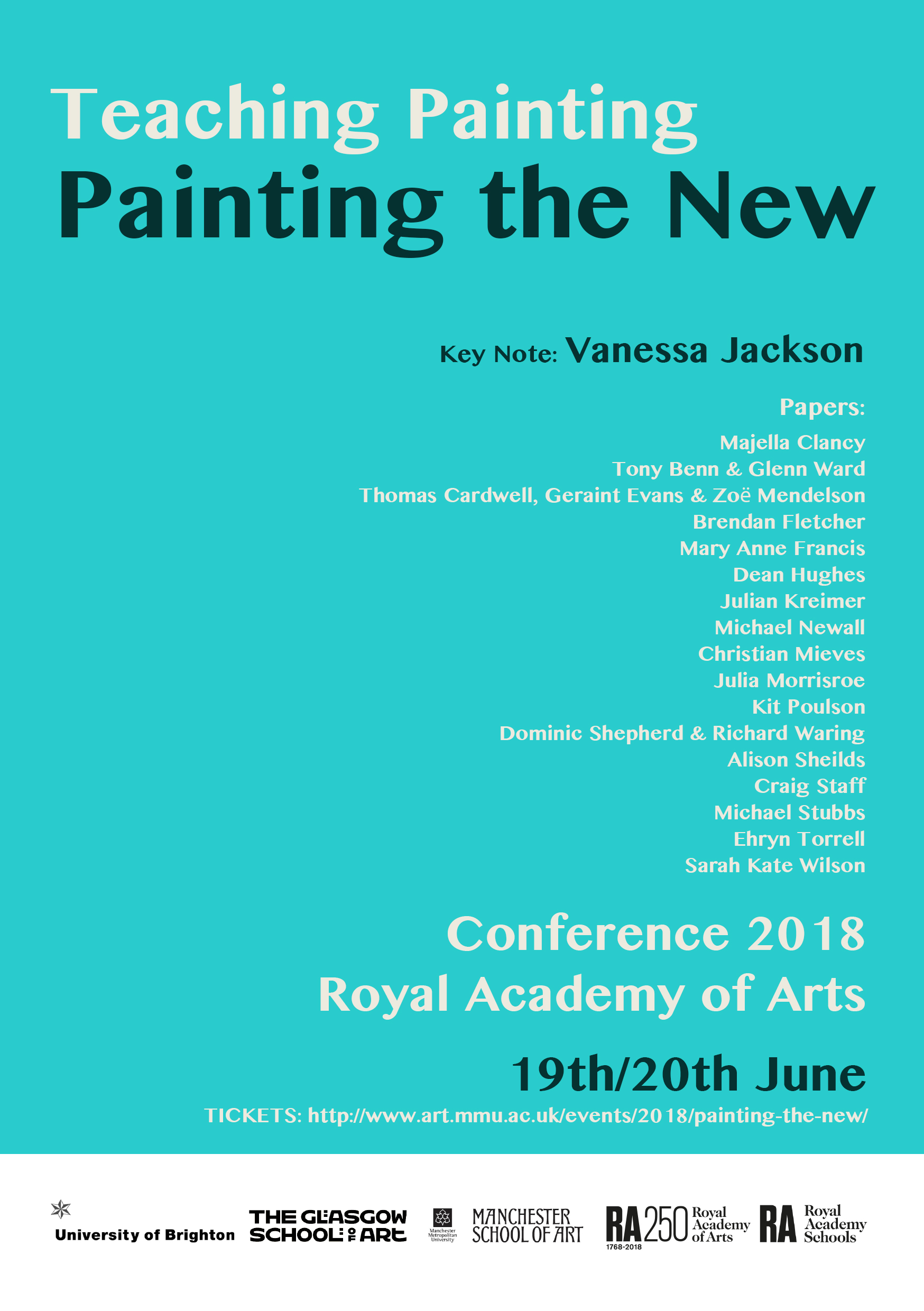 Names of attendess of Teaching Painting: Painting the New