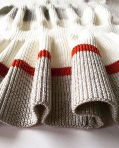 Close up of knitwear by Rachel Wells