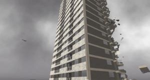 Towerblock crumbling
