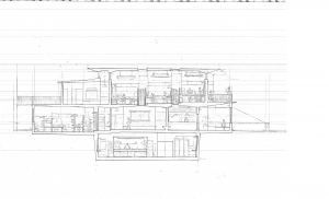 Side elevation drawing