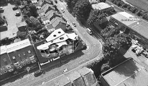 Aerial shot of corner