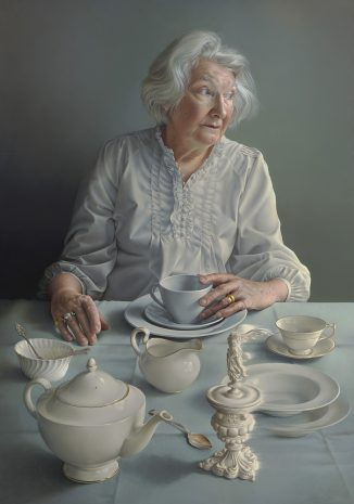 Image of woman at a table