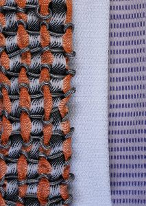 Woven orange thread