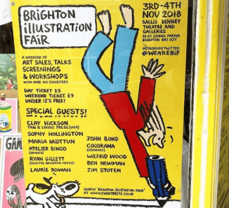 Brighton Illustration Fair poster