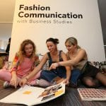 Fashion Communication students work together