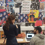 Graphic design alumni chats all things coding with current students