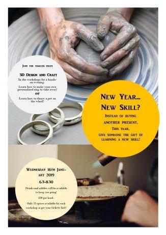 ceramics workshop poster