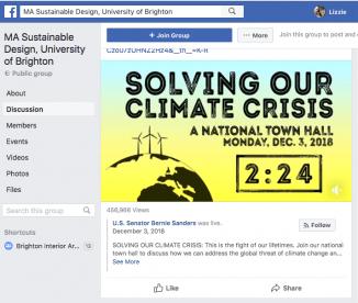 sustainable design facebook