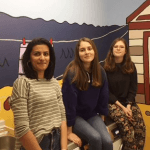 Art and design students decorate hospital room