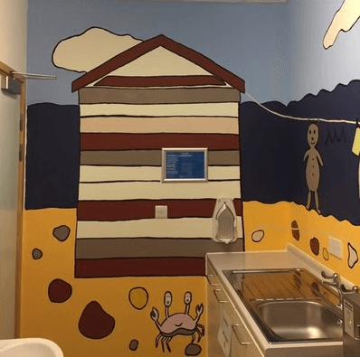 mural at children's hospital