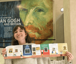 Lucia Vinti with Van Gogh guide