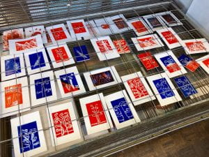 Image shows prints by students