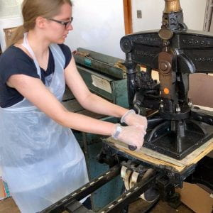 Local schools and youth organisations become printmakers for a day