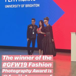 Feiyi Huang wins at Graduate Fashion Week