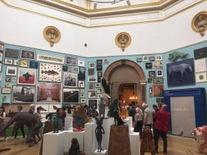 RA Summer exhibition room filled with visitors
