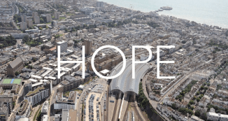 Hope text over image