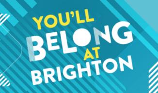you'll belong at brighton text