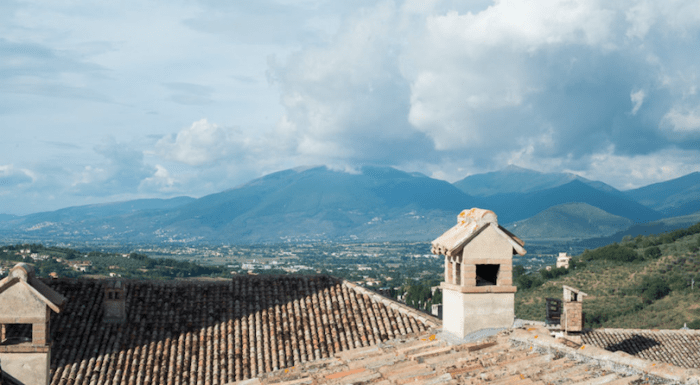 Landscape photo of Spoleto, Italy