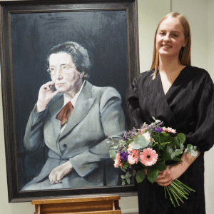 Painting Oxbridge's first female professor