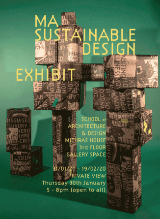 Sustainable Design exhibition poster