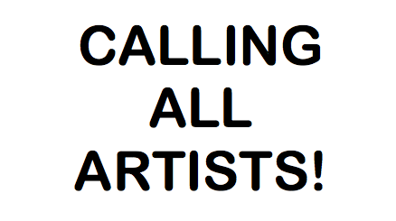 CALLING ALL ARTISTS TEXT
